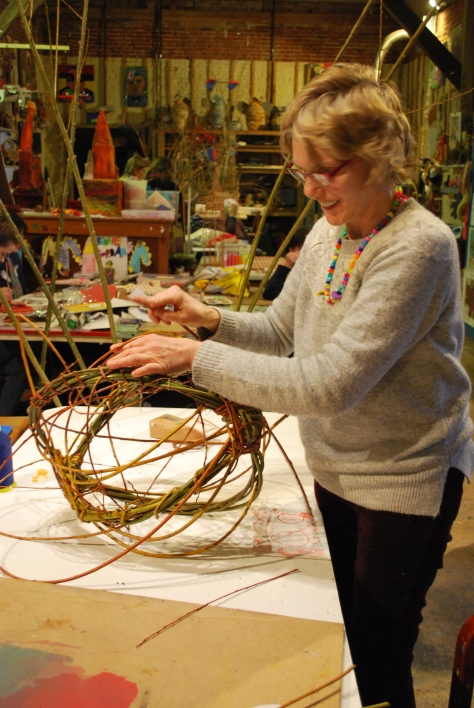 Hazel weaving