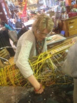 Hazel working with the willow lozenge
