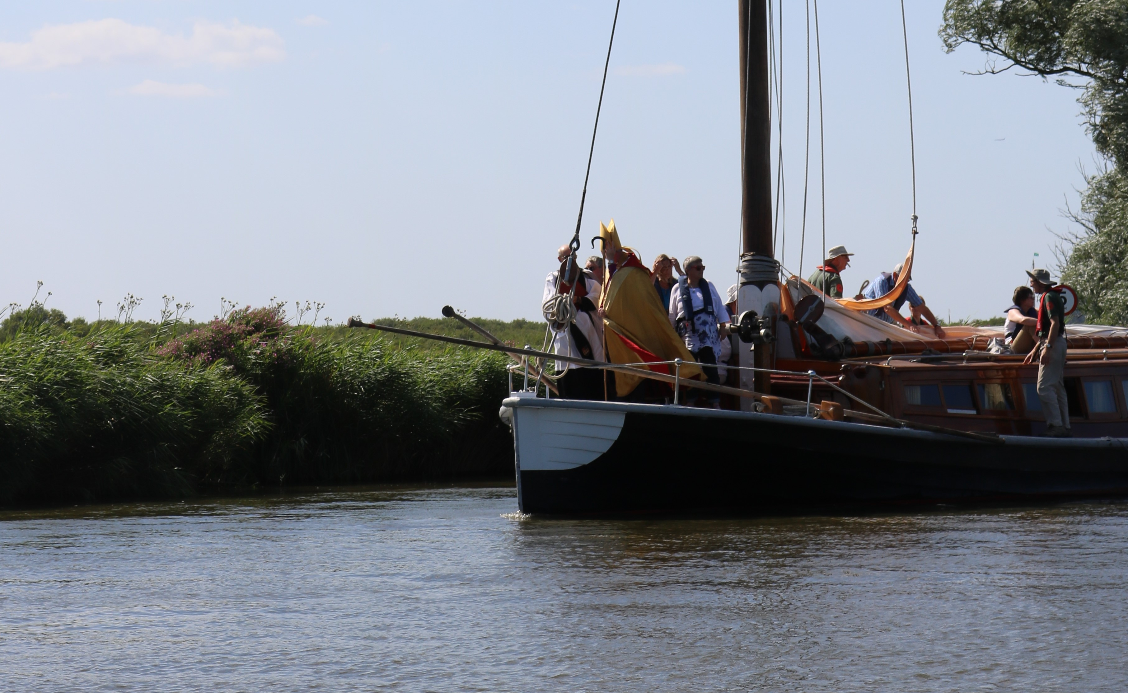 The Bishop of Norwich on the wherry