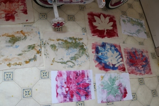 drying prints on the floor